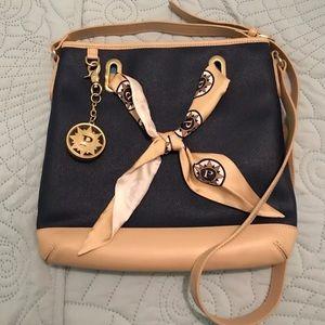 Parazul Navy Crossbody Bag w/scarf